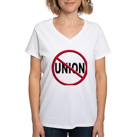 Anti-Union Women's V-Neck T-Shirt