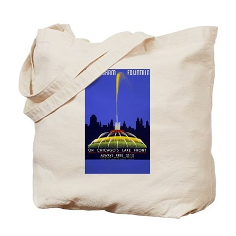 Chicago Grant Park Fountain Tote Bag