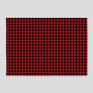 Buffalo Red Black Plaid 5'x7'Area Rug