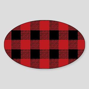 Buffalo Red Black Plaid Sticker (Oval)