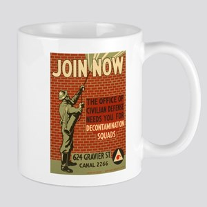 Civil Defense Retro Poster Mug