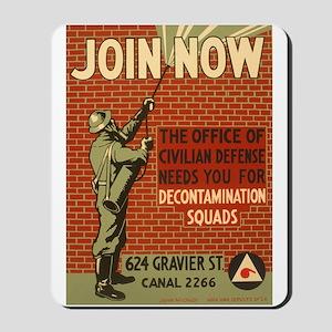 Civil Defense Retro Poster Mousepad