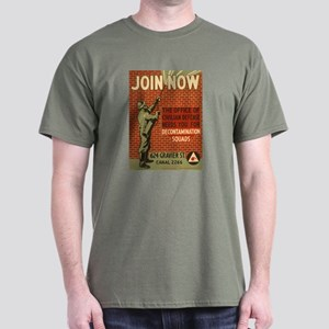 Civil Defense Retro Poster Dark T-Shirt