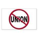 Anti-Union Rectangle Sticker 10 pk)