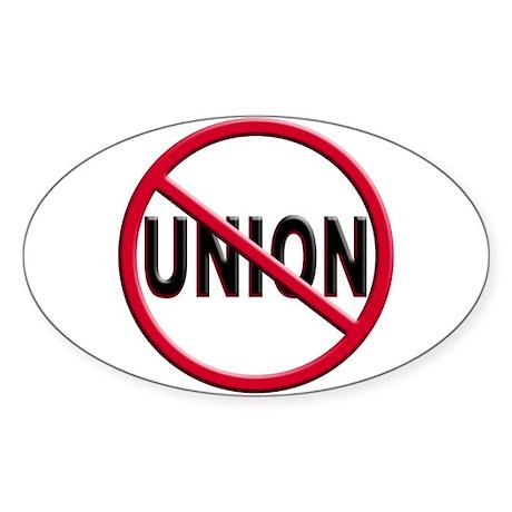 Anti-Union Oval Sticker (50 pk)