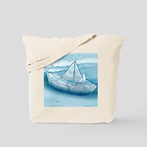 """""""Ocean and paper ship"""" Tote Bag"""