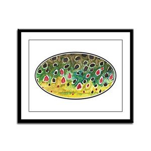 Brown Trout Fly Fishing Framed Panel Print