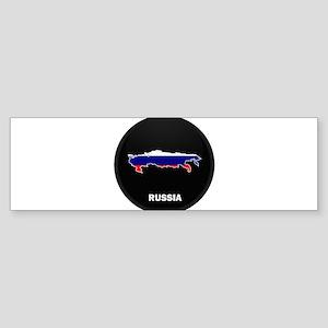 Flag Map of Russia Bumper Sticker
