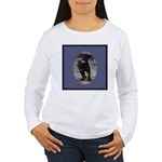 Romping Rottweiler Puppy Women's Long Sleeve T-Shi