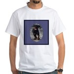 Romping Rottweiler Puppy White T-Shirt