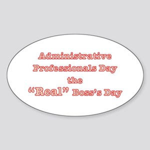Admin. Professionals Day Oval Sticker