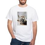White T-Shirt-Rhino's & Elephant's Butts