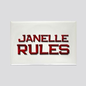 janelle rules Rectangle Magnet
