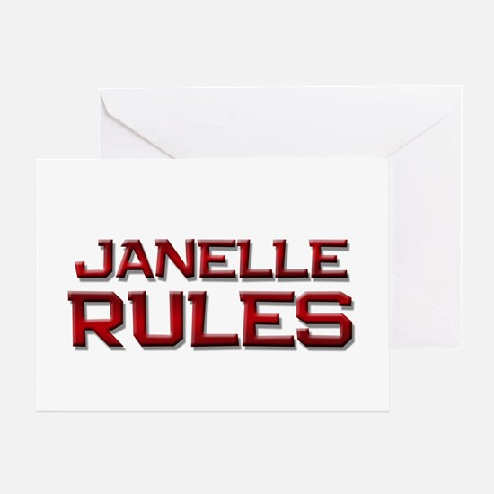 janelle rules Greeting Card