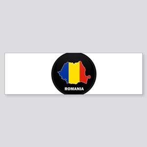 Flag Map of Romania Bumper Sticker