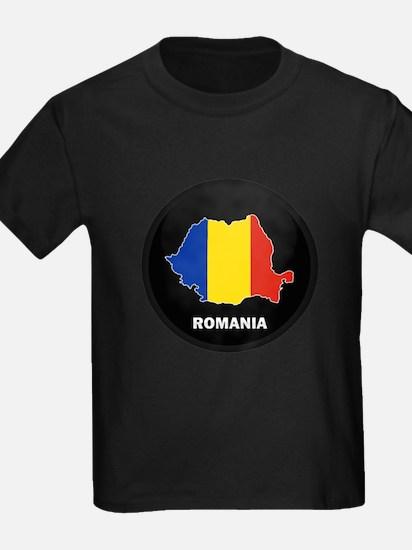 Flag Map of Romania T
