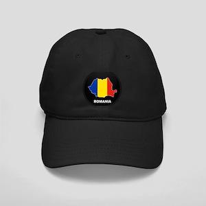 Flag Map of Romania Black Cap