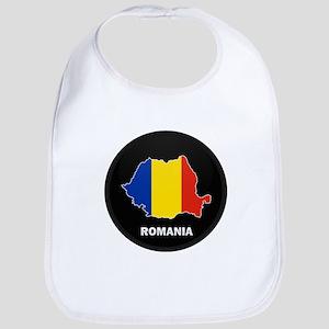 Flag Map of Romania Bib