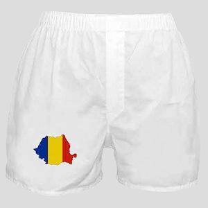 Romania Flag Map Boxer Shorts