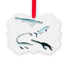 Battle of the Extinct Sea Monsters Ornament