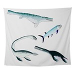 Battle of the Extinct Sea Monsters Wall Tapestry