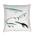 Battle of the Extinct Sea Monsters Everyday Pillow