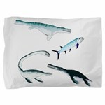 Battle of the Extinct Sea Monsters Pillow Sham
