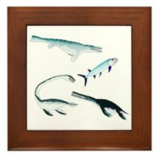 Battle of the Extinct Sea Monsters Framed Tile
