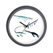 Battle of the Extinct Sea Monsters Wall Clock