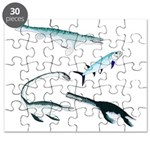 Battle of the Extinct Sea Monsters Puzzle