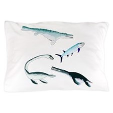 Battle of the Extinct Sea Monsters Pillow Case