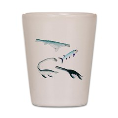 Battle of the Extinct Sea Monsters Shot Glass