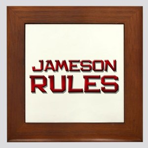 jameson rules Framed Tile