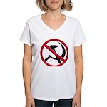 Anti-Communism Women's V-Neck T-Shirt