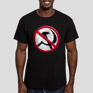 Anti-Communism Men's Fitted T-Shirt (dark)
