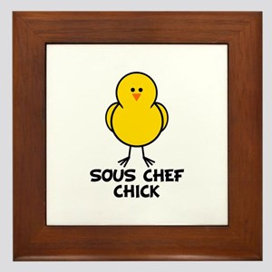 Sous Chef Chick Framed Tile