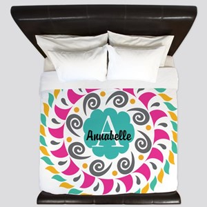 Personalized Monogrammed Gift King Duvet