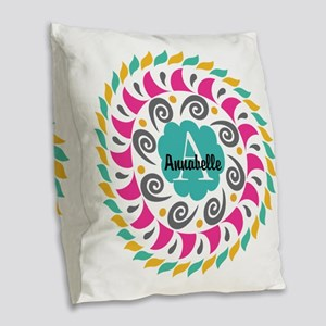 Personalized Monogrammed Gift Burlap Throw Pillow
