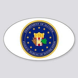 FBI - Department Of Alcohol Sticker (Oval)