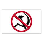 Anti-Communism Rectangle Sticker 10 pk)