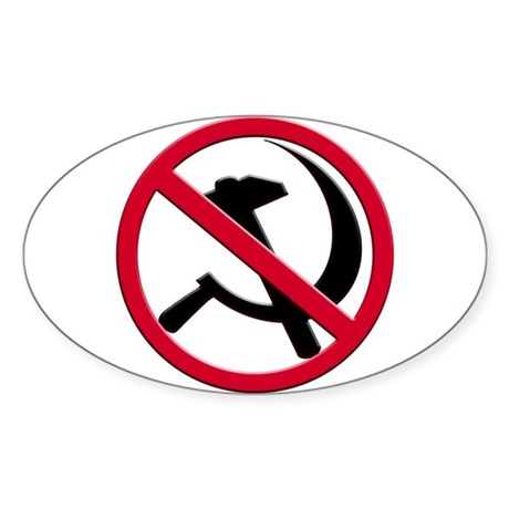 Anti-Communism Oval Sticker (50 pk)