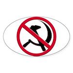 Anti-Communism Oval Sticker (10 pk)