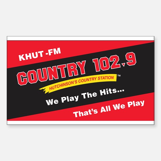 Country 102.9 Rectangle Decal