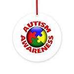 Autism Awareness Ornament (Round)