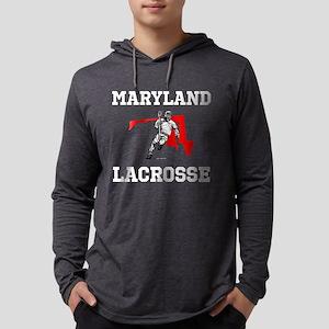 Maryland Lacrosse Hoodie Long Sleeve T-Shirt
