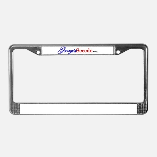 Georgia Secede License Plate Frame