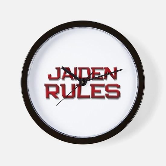 jaiden rules Wall Clock
