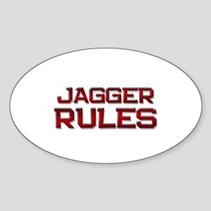 jagger rules Oval Sticker
