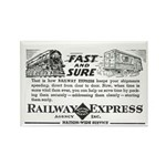 Fast & Sure-Railway Express Rectangle Magnet