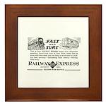 Fast & Sure-Railway Express Framed Tile